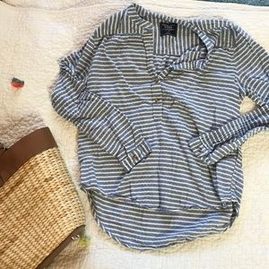 Cozy Abercrombie Striped Top Small Button Front